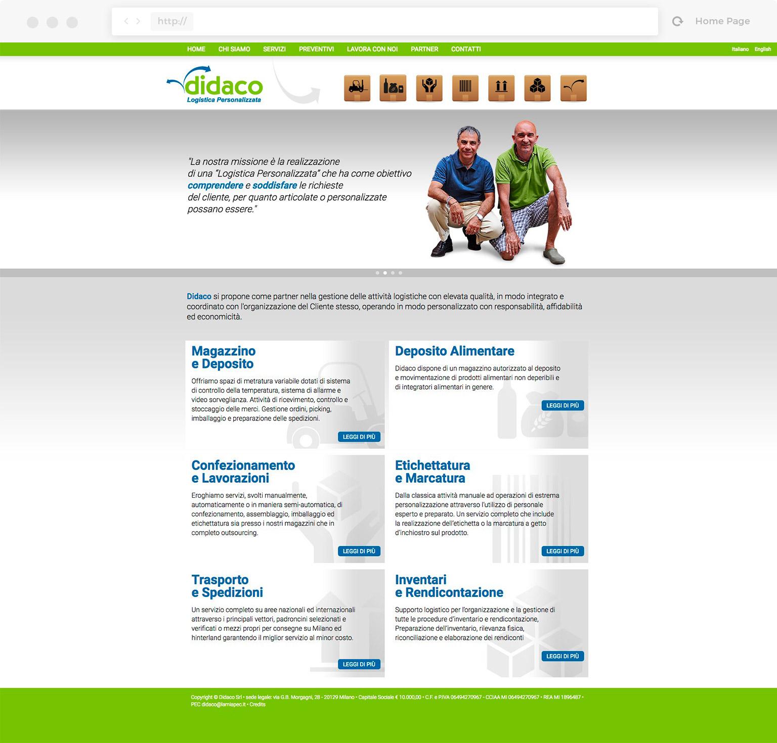 Didaco Logistica website